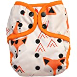 One Size Cloth Diaper Cover Snap with Double Gusset (Baby Fox)