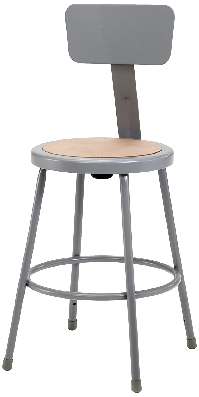 Amazon.com National Public Seating 6224B Steel Stool with 24  Hardboard Seat and Backrest Grey Industrial u0026 Scientific  sc 1 st  Amazon.com & Amazon.com: National Public Seating 6224B Steel Stool with 24 ... islam-shia.org