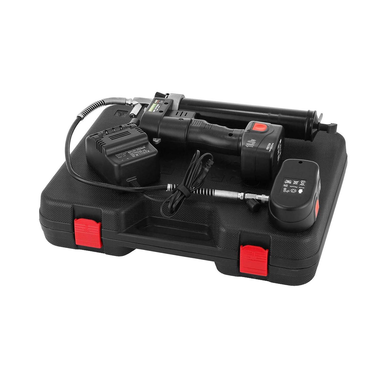 Moracle 18V Bater/ía Pistola de Grasa Inal/ámbrica Pistola de Grasa para Taller de Garaje Herramientas /Útiles en Casa o en el Trabajo