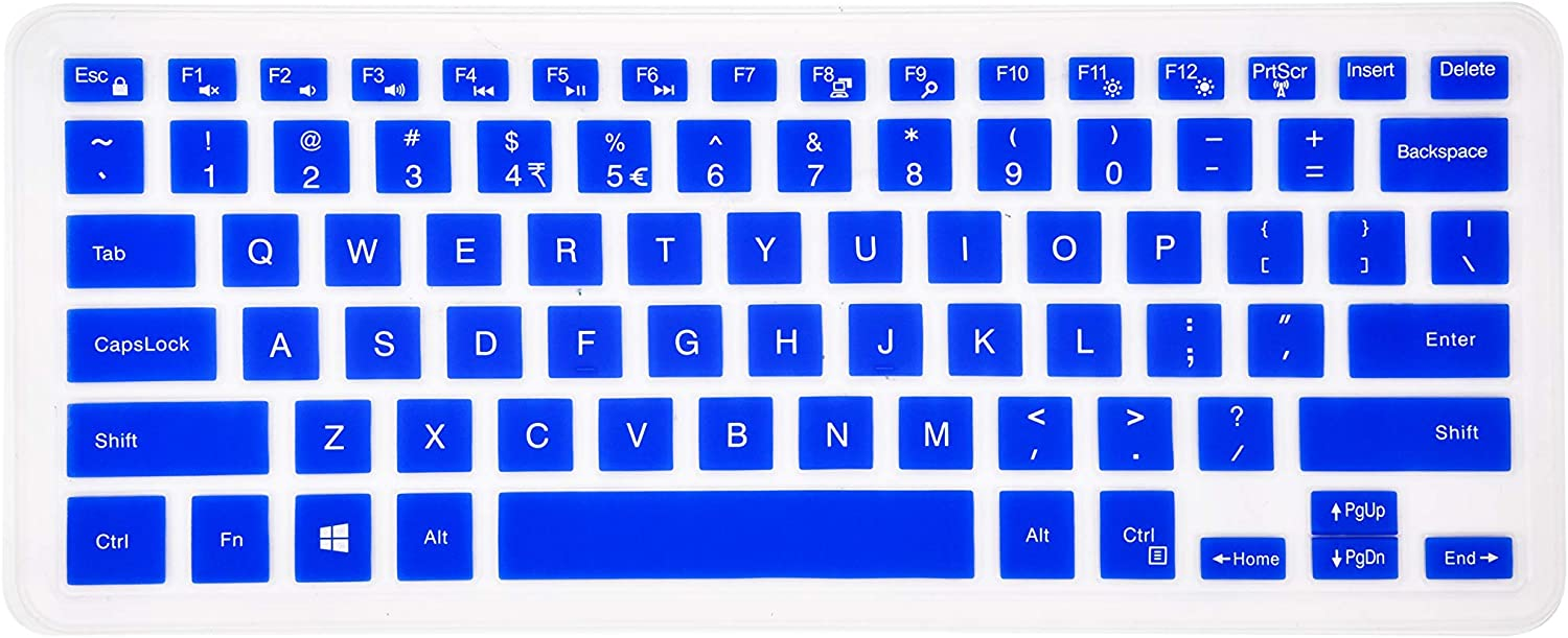 Keyboard Cover Compatible Dell Inspiron 13 5000 7000 Series 5368 i5378 7370 7373 7368 7378, Dell Inspiron 15 5568 5578 7568 7570 7573,XPS 15-9550 9560 9570 Laptop - Blue
