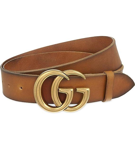 87c0f8e70 Gucci Cinturón de piel para hombre DOUBLE G (406831CVE0T2535 ...