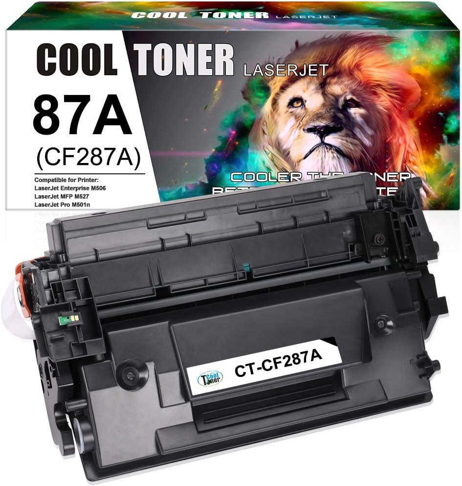 Cool Toner Compatible Toner Cartridge Replacement for HP 87A CF287A 87X CF287X Toner for HP Laserjet Enterprise M506 M506dn M506x M506n,Laserjet Pro M501dn M501n,Laserjet MFP M527dn M527z Printer-1PK