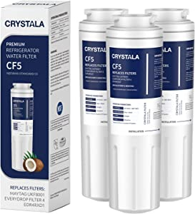 Crystala Filters UKF8001 Water Filter, Compatible with Refrigerator Water Filter Whirlpool 4396395, Filter 4, Maytag UKF8001, EDR4RXD1, UKF8001AXX, UKF8001P, Puriclean II, 469006,(Pack of 3)