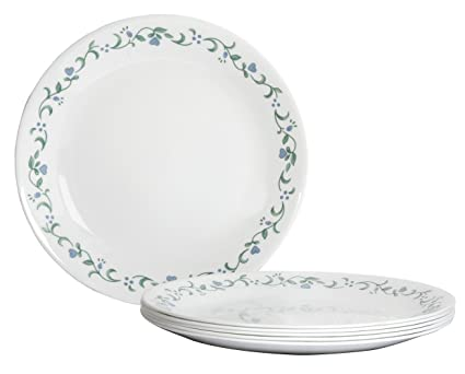 Corelle Livingware Country Cottage Dinner Plate Set 26cm Set of 6  sc 1 st  Amazon.in & Buy Corelle Livingware Country Cottage Dinner Plate Set 26cm Set ...