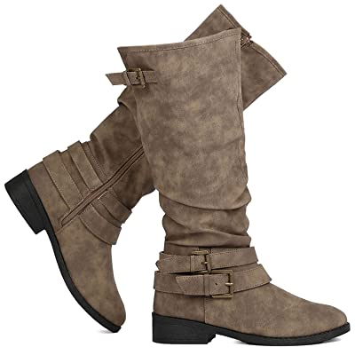 Premier Standard Women's Fashion Cross Ankle Strap Knee High Riding Boot | Knee-High