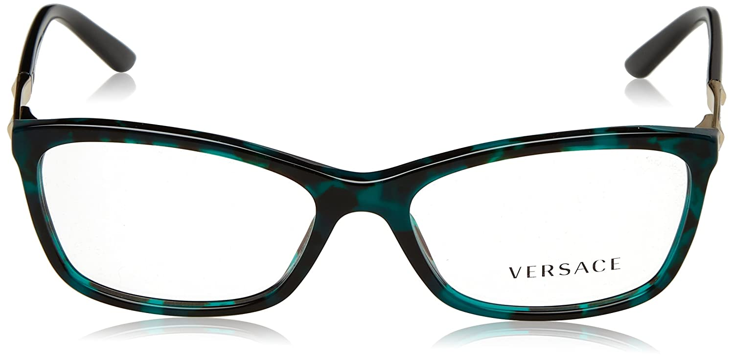 876068f7bbf5 VERSACE Eyeglasses VE 3186 5076 Green Havana 54MM  Amazon.co.uk  Clothing