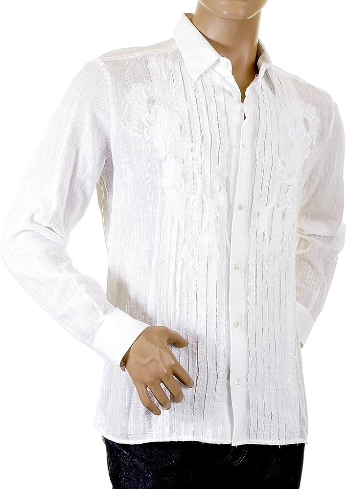 Dolce & Gabbana D&G Camisa de manga larga blanca 1645 36303 DGM4035: Amazon.es: Ropa y accesorios
