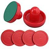 Ellen Tools Set of Two Red Air Hockey Pushers and