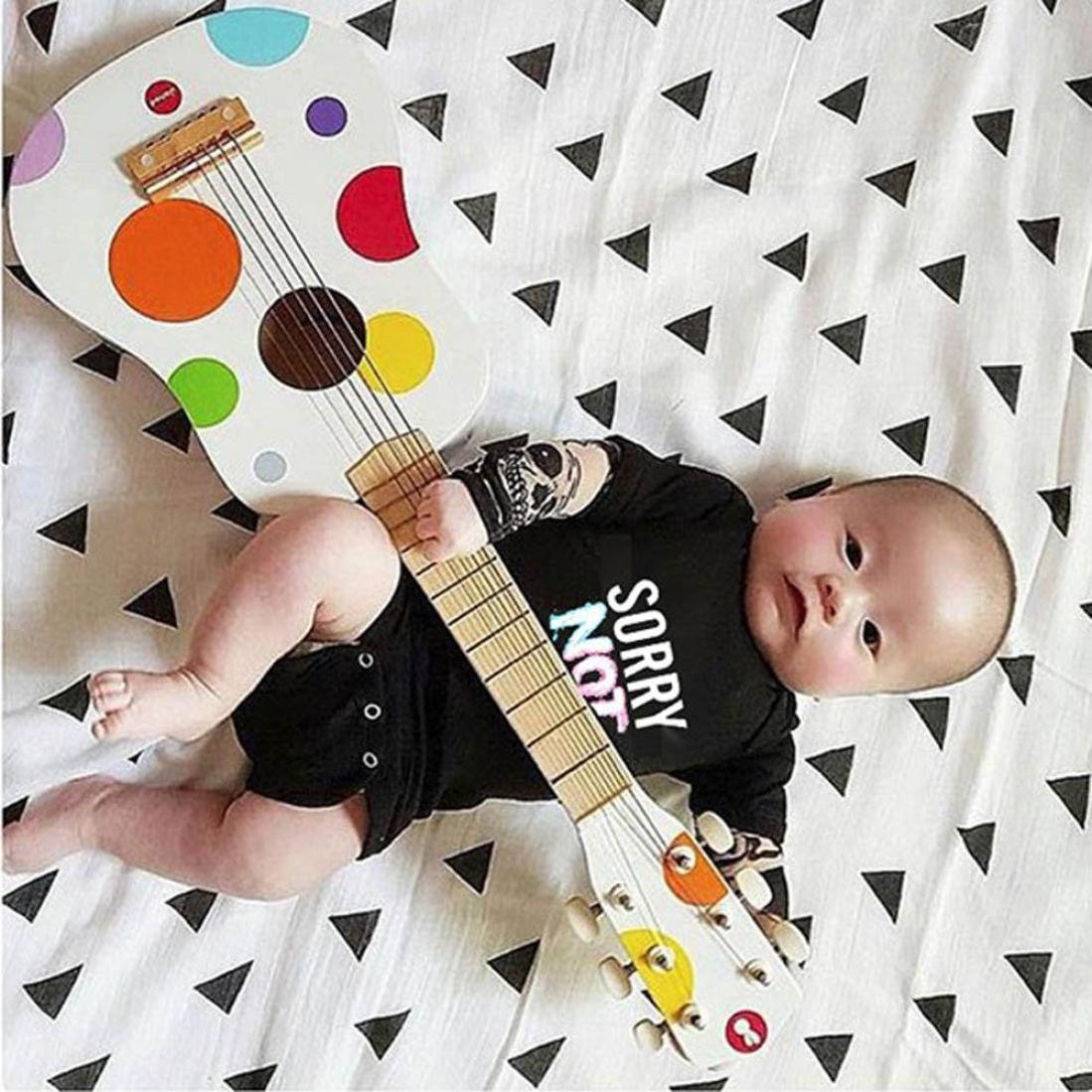 TM Size:18M, Black Fulltime Baby Romper, Baby Tattoo Sleeve Letter Romper Jumpsuit Outfits Clothes