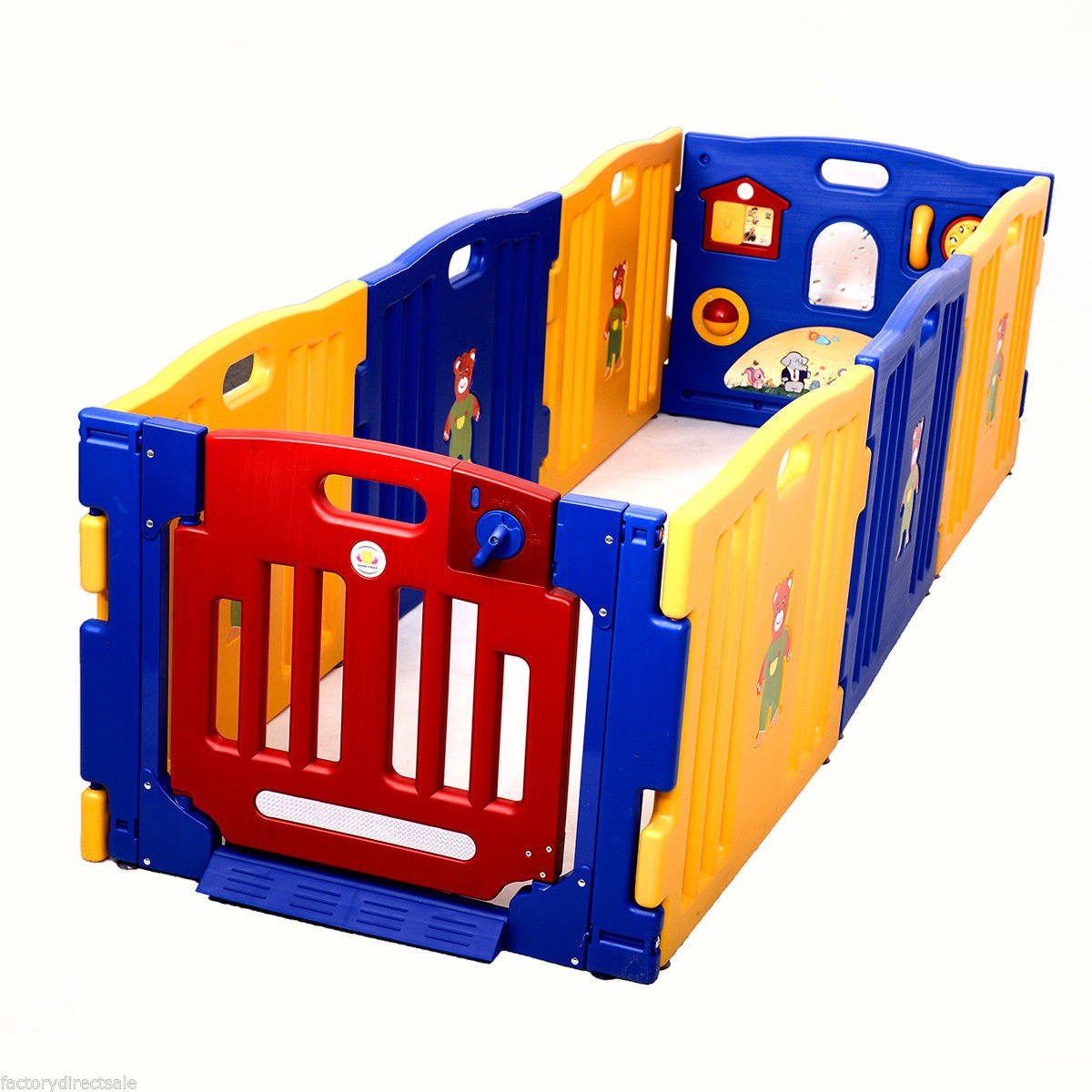 8 Panel Safety Baby Playpen Kids Indoor/Outdoor Play Center With Ebook by MRT SUPPLY (Image #3)