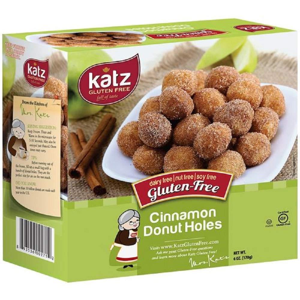 KATZ Gluten Free Cinnamon Donut Holes 6 Ounce (Pack of 6) by KATZ