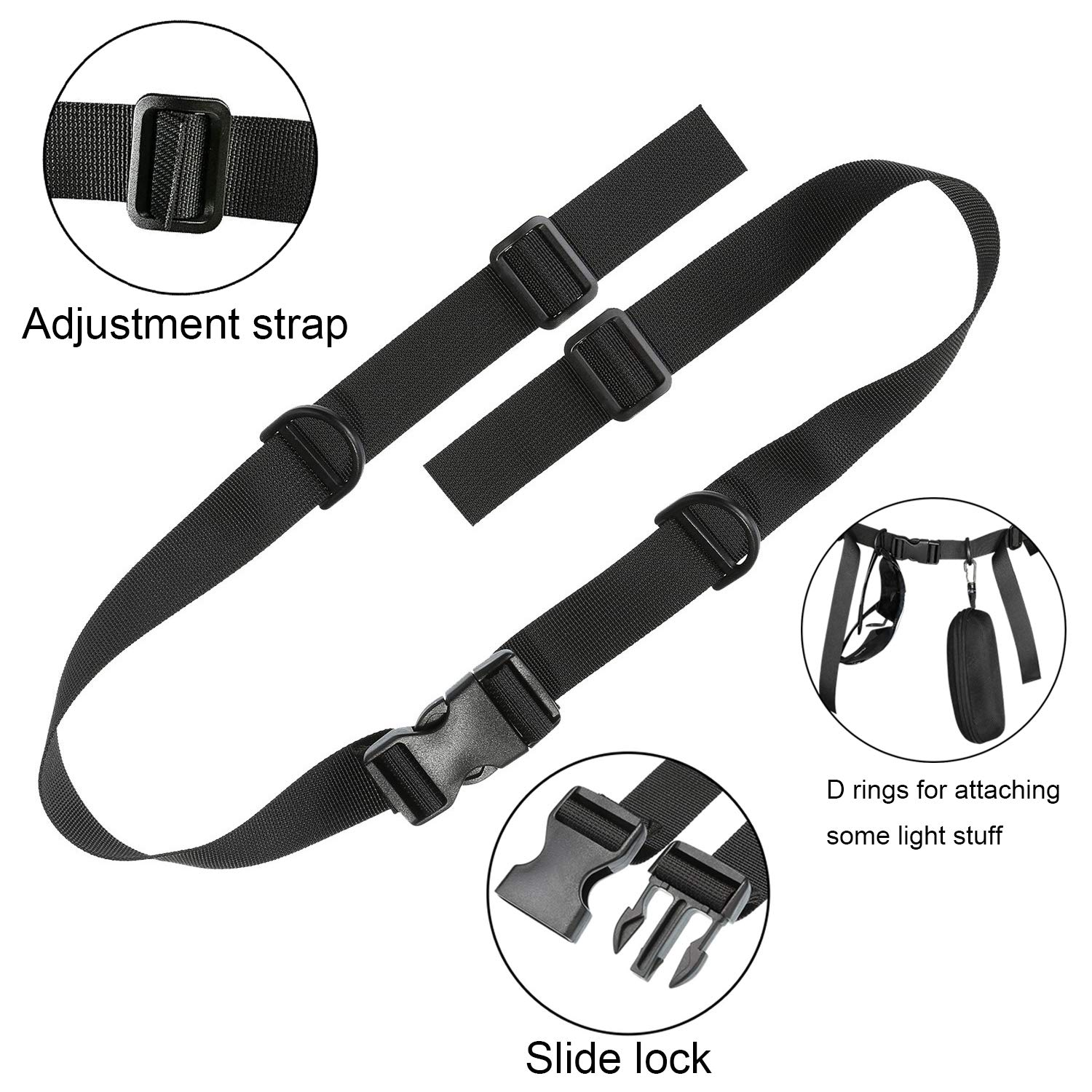 Adjustable Backpack Sternum Strap Heavy Duty Chest Strap for Camping Hiking Jogging Lainrrew 3 Pcs Backpack Chest Strap