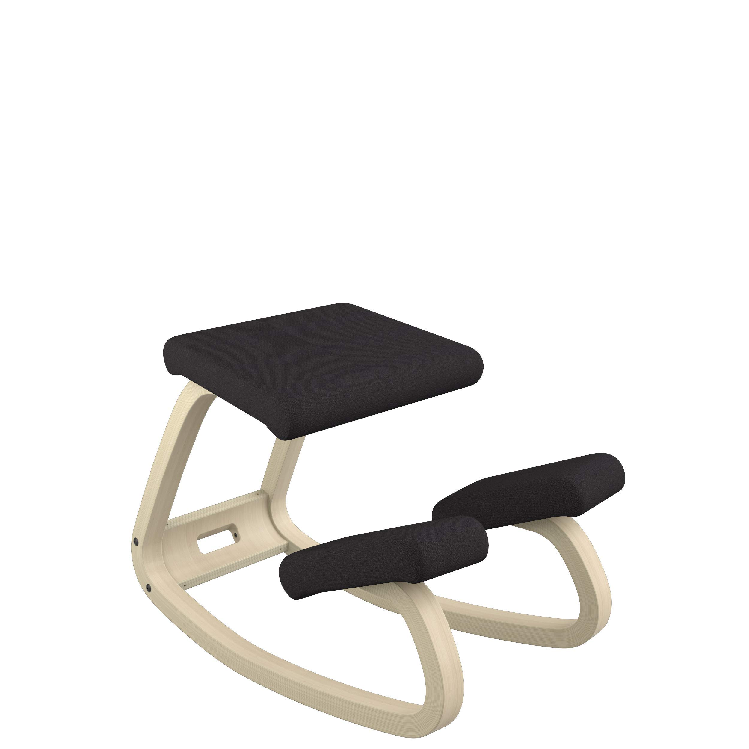Varier Variable Balans Original Kneeling Chair Designed by Peter Opsvik (Black Revive Fabric with Natural Ash Base) by Varier