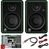 Mackie CR3-X 3-Inch Creative Reference Multimedia Monitors Bundle with Pro Tools First DAW Music Editing Software and Dual 1/