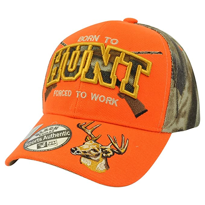 344c5b42 Born to Hunt Neon Orange Camouflage Camo Hunting Outdoors Two Tone Hat Cap  Camp: Amazon.ca: Clothing & Accessories