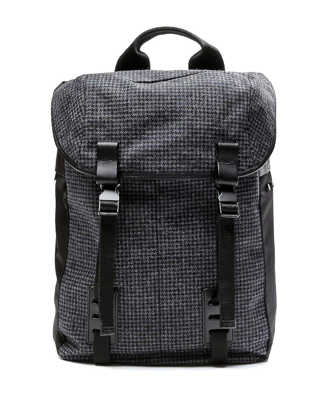 wiberlux Lanvinメンズ千鳥格子double-buckleトップフラップバックパック One Size  B01B4FISHQ