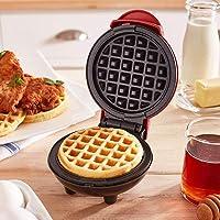 Harddo Mini wafelijzer machine, elektrische taartmachine voor pannenkoeken, koekjes voor pannenkoeken, antiaanbaklaag…