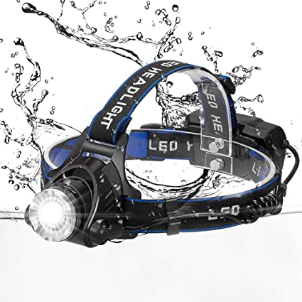 wangcai LED Headlamp, Snorda Super Bright 3 Modes Head Lamp Zoomable Work Headlight Waterproof Flashlight