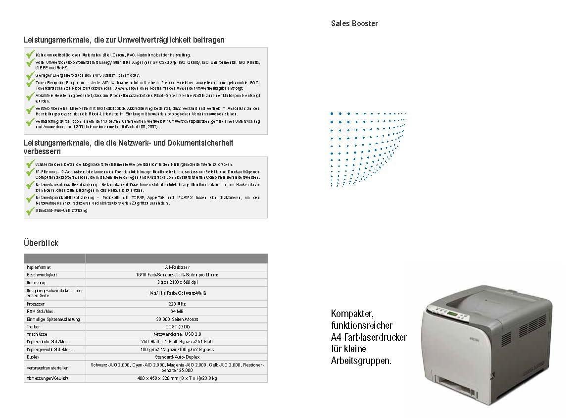 Ricoh Aficio SP C240DN Farblaserdrucker grau: Amazon.de: Computer & Zubehör