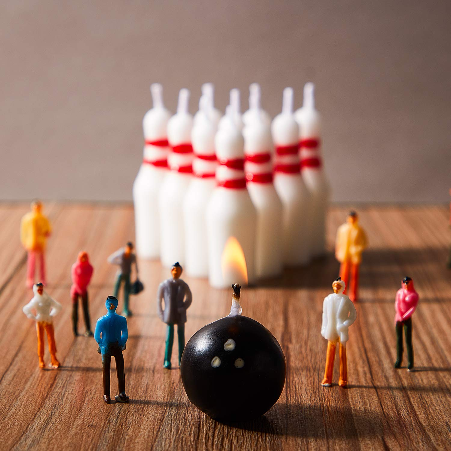 Gejoy Bowling Candle Set Including Ball Candles and Bowling Pins Candles Sports Cake Candles for Wedding Birthday Party Supply 14