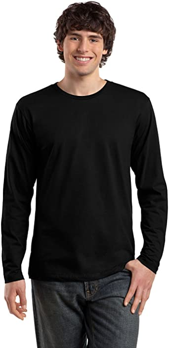 District Made Mens Perfect Weight Long Sleeve Tee DT105