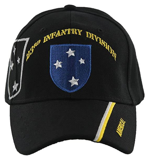 Army 23rd Infantry Division Americal Black Embroidered Cap Hat U.S