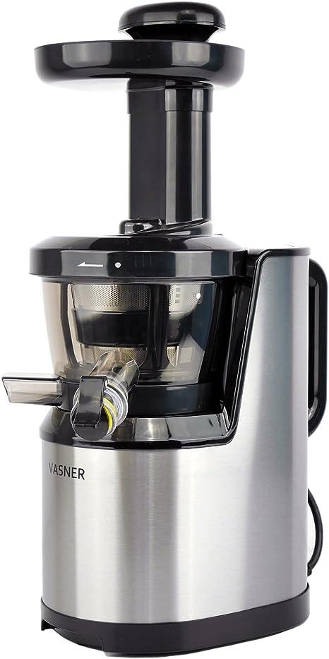 Basics Slow Juicer mit langsam rotierender Press-Schnecke Entsafter mit breiter Einf/üll/öffnung leichte Reinigung