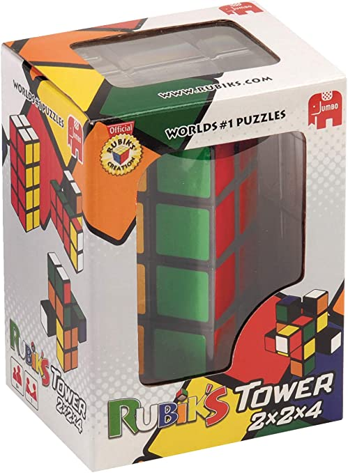 Jumbo Spiele 12154 - RubikS Tower, Juego de RubikS en versión Torre: Amazon.es: Juguetes y juegos