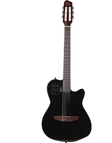 Godin Multiac Series-ACS Black Slim Guitar (Nylon Black Pearl)