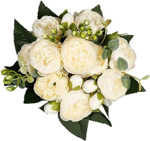 Starlifey 2 Pcs Silk Small Peony Artificial Flowers Arrangements Hydrangea Table Centerpieces Home Party Wedding Floral Bouquet Decor Amazon Co Uk Kitchen Home