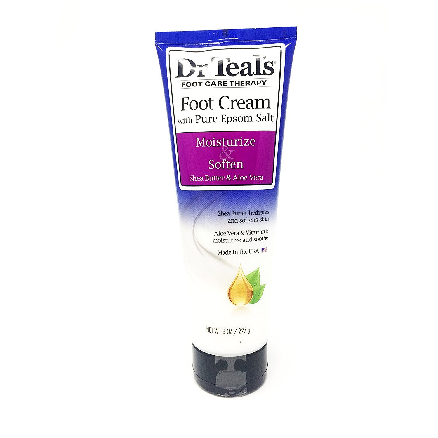 Dr Teal's Shea Enriched Foot Cream, 8 Oz. (Pack of 2) Dr. Teal' s