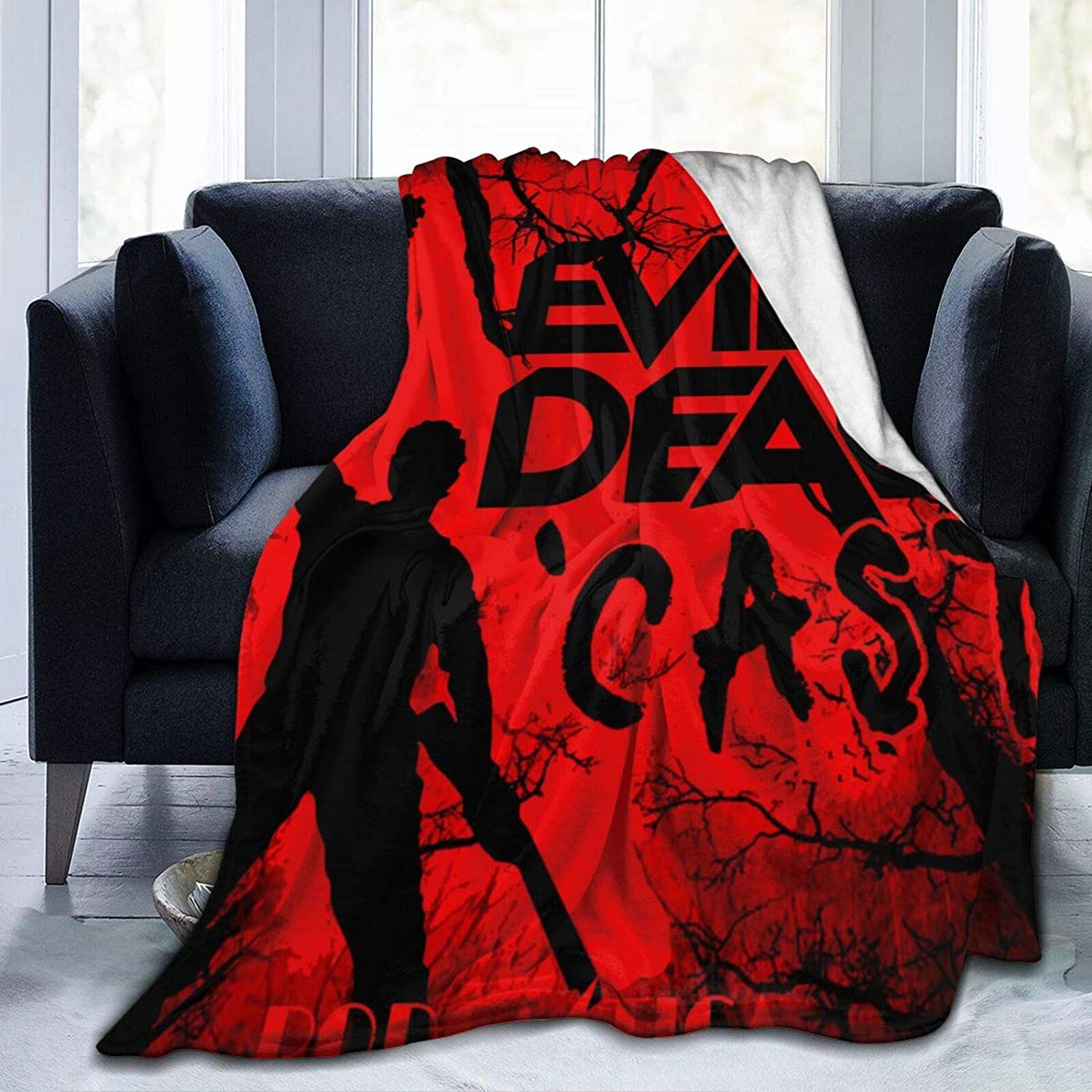 KRR Blanket Throw Evil Dead Soft Blanket Plush Fluffy Durable Home Decor Perfect for Couch Sofa Beds Living Room(50
