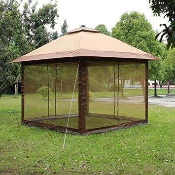 AMGS AmglobalSupplies - Pérgola para jardín, Exterior, Patio, Tienda de campaña, Patio, Plegable, portátil, Barbacoa, Luces LED y e-Book: Amazon.es: Jardín
