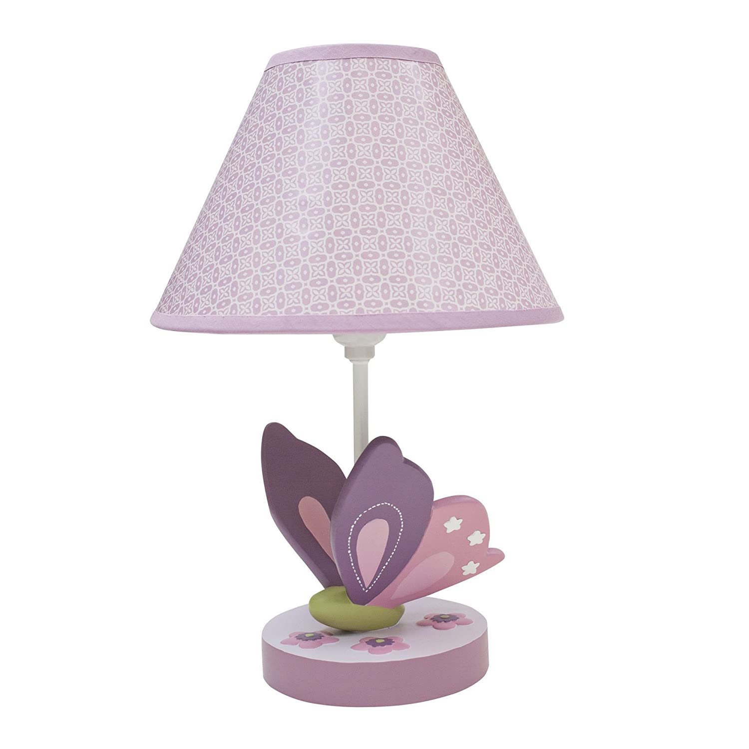 Lambs & Ivy Butterfly Bloom Lamp with Shade and Bulb 084122575240