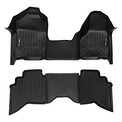 MAXLINER Floor Mats 1st Row 1 Piece and 2nd Row Liner Set Black for 2002-2008 Ram 1500/2003-2009 Ram 2500/3500 Quad Cab: Automotive