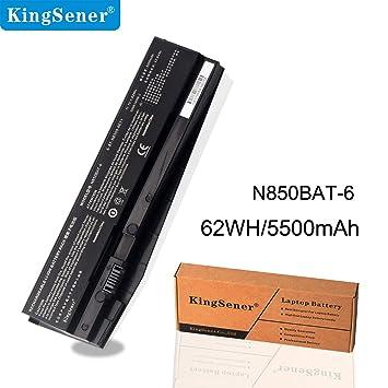 KingSener N850BAT-6 Laptop Battery For Clevo N850: Amazon co