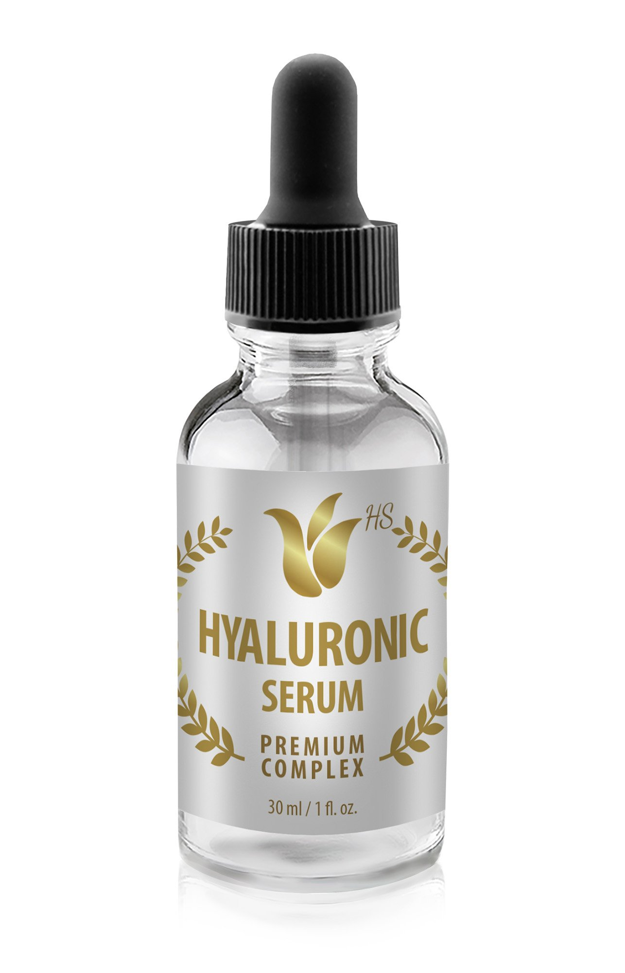 Anti aging serum men - HYALURONIC SERUM PREMIUM COMPLEX - Hyaluronic acid for face serum for face - 1 Bottle by Health Solution Prime