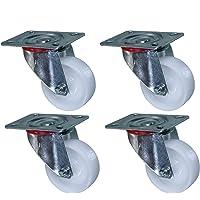 Heavy Duty Nylon ruedas giratorias, 4-Pack, 240kg capacidad
