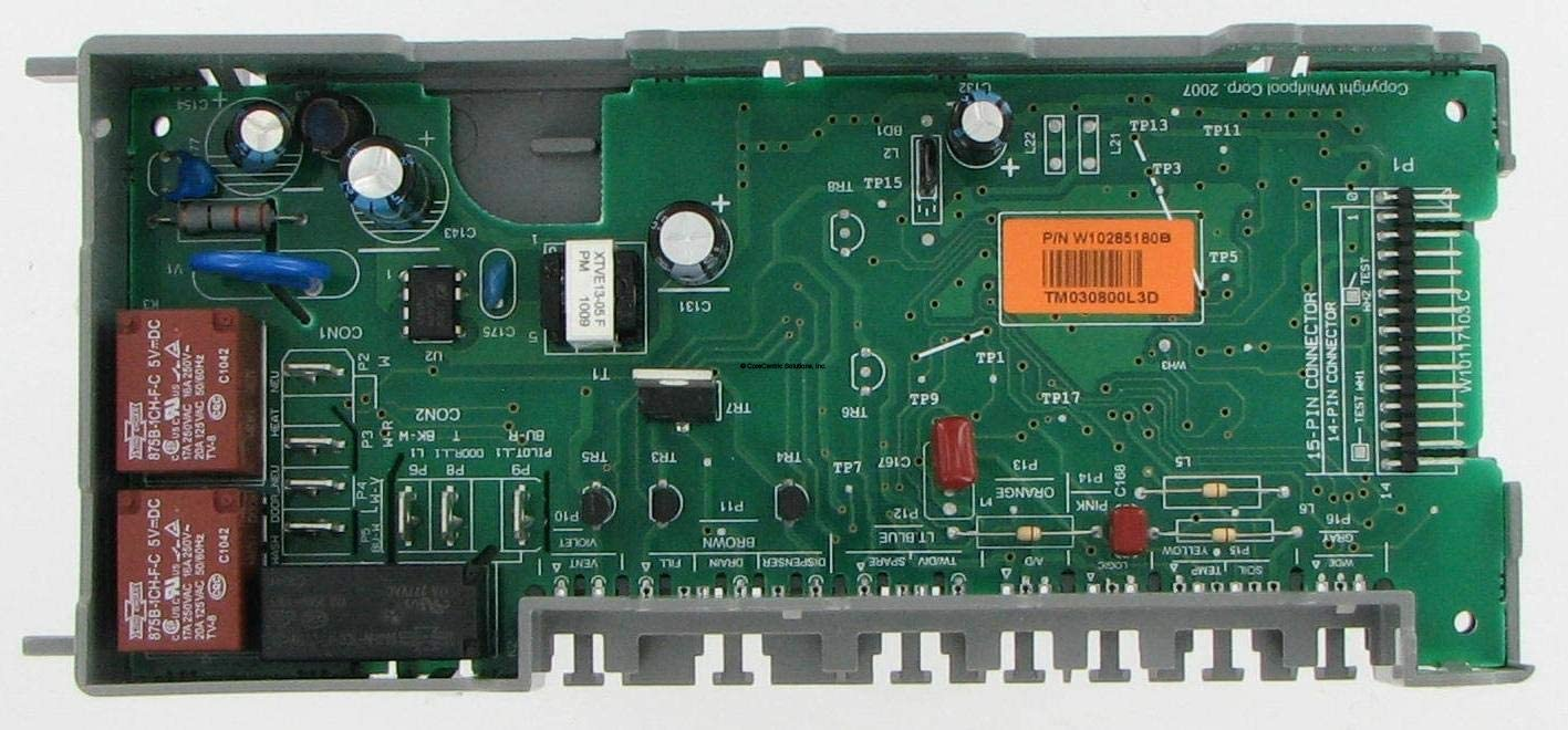 CoreCentric Dishwasher Control Board replacement for Whirlpool W10285180 / WPW10285180 (Renewed)