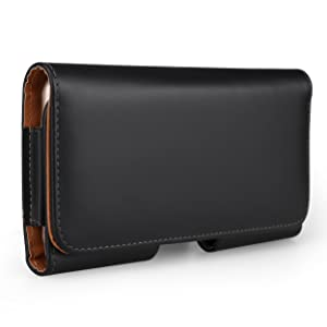 """5"""" Horizontal PU Leather Magnetic Closure Belt Clip Loops Pouch Wallet Case for Apple iPhone X / iPhone 8 7 / BLU Grand Mini / Advance A4 / Life One X2 Mini / Dash L3 / Tank Xtreme 4.0 2.4"""