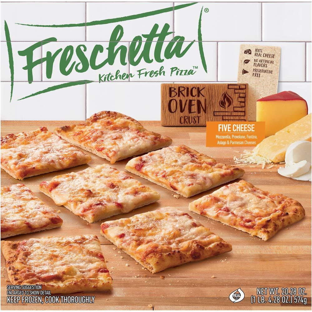 Freschetta, 5 Italian Cheese Brick Oven Pizza, 20.28 oz (Frozen)