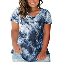 Zilcremo Women Tank Top Tee Shirts Summer Plus Size Camouflage Tunic T-Shirt
