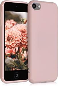 kwmobile TPU Case Compatible with Apple iPod Touch 6G / 7G (6th and 7th Generation) - Soft Protective Back Cover - Dusty Pink