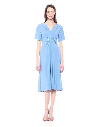 5b9390fed37 Chaus Women s Flutter SLV V-Neck Dress at Amazon Women s Clothing store