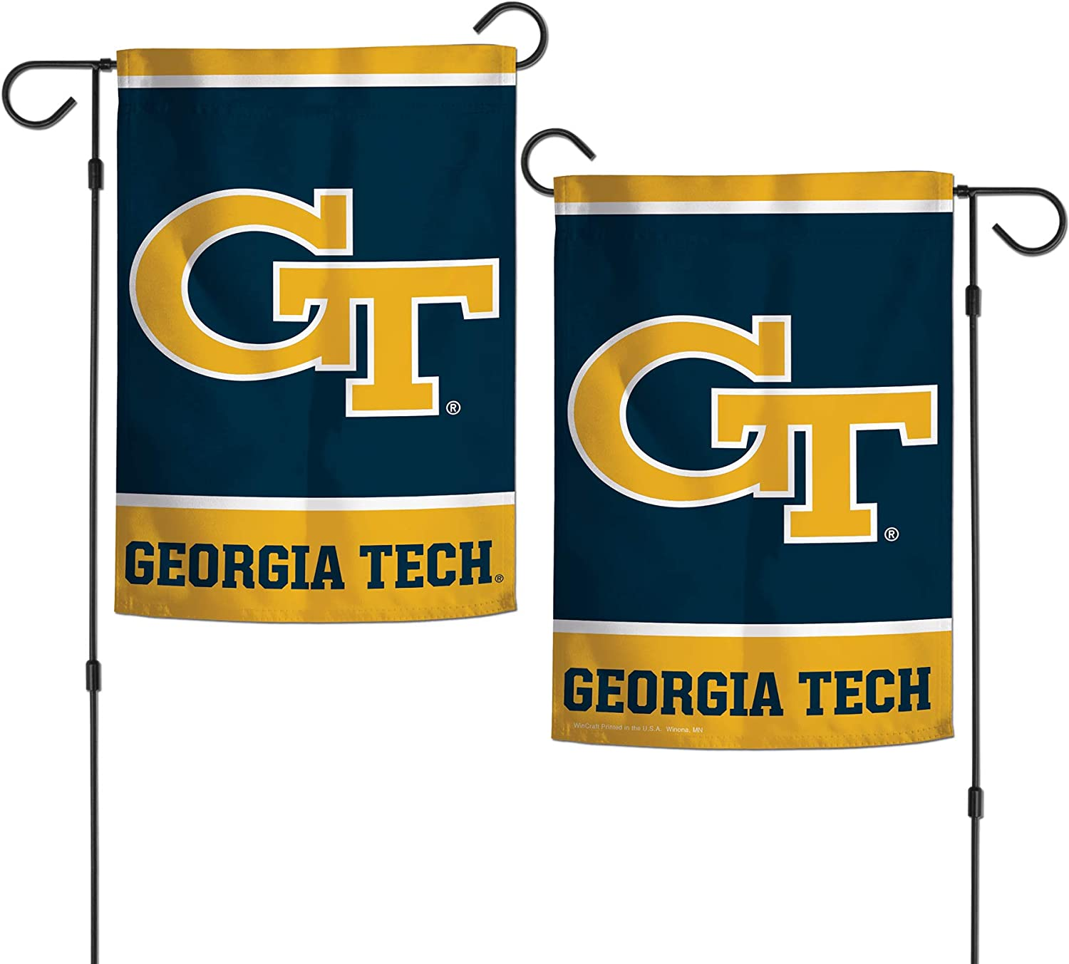 "WinCraft NCAA Georgia Tech University Yellowjackets 12.5"" x 18"" Inch 2-Sided Garden Flag"