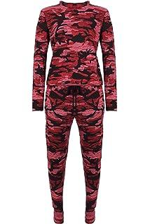 Children Army Print Round Neck Long Sleeve Top Set Kids Knit Jogsuit Lounge Wear
