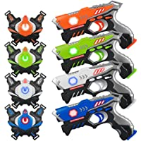 Laser Tag Guns Sets 4 Pack for Kids Adults Infrared Laser Tag Toy with Vest and Gun Indoor Outdoor Group Activity Laser…