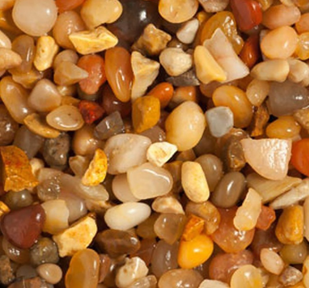Safe & Non-Toxic {Various Sizes} 20 Pound Bag of Gravel, Rocks & Pebbles Decor for Freshwater Aquarium w/ Polished Natural Smooth Earthy Toned River Inspired Sleek Style [Tan & Brown] by mySimple Products