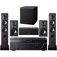 Sony 7.2 Channel 3D 4K A/V Surround Sound Multimedia Home Theater System (STRDN1080, SSCS3 (2), SSCS5, SSCS8, SACS9) (6…