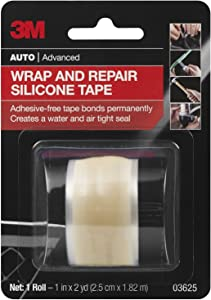 3M Wrap & Repair Silicone Tape, 1 in x 2 yards, 1 roll